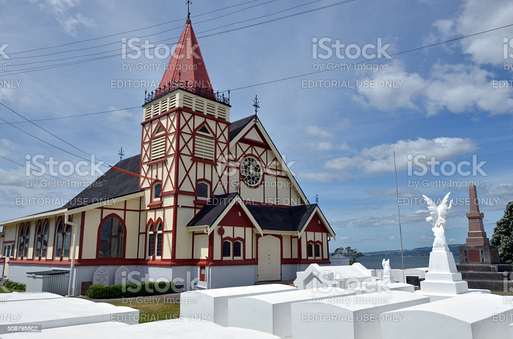 St Faiths Anglican Church In Rotorua New Zealand Stock Photo