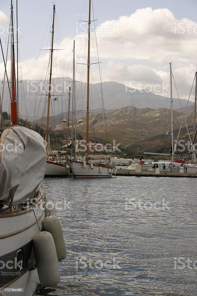 St Florent Harbour Corsica stock photo
