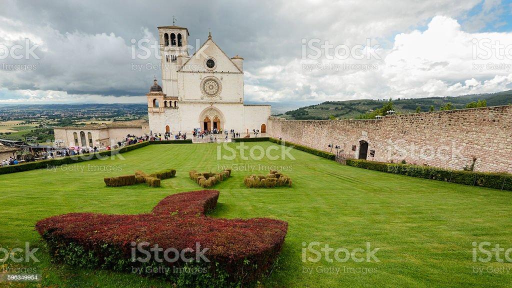 St. Francis basilic in Assisi Lizenzfreies stock-foto