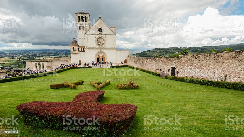 St. Francis basilic in Assisi stock photo
