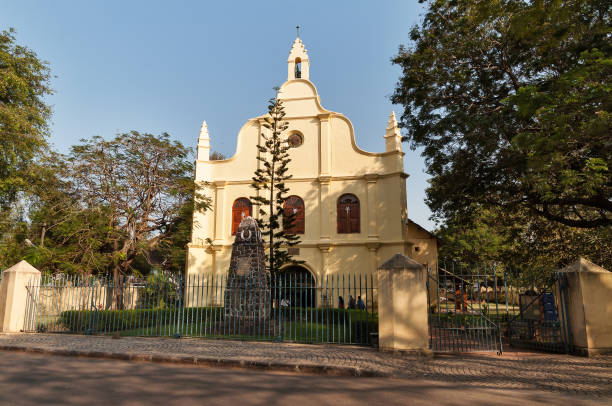 st. francis church in fort kochi - pope francis stok fotoğraflar ve resimler