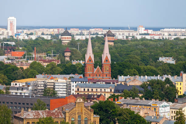 St. Francis' Church in Riga stock photo