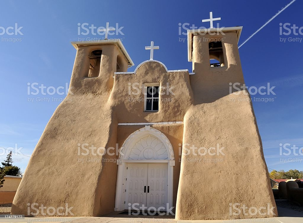 St. Francis of Assissi, Taos, New Mexico royalty-free stock photo