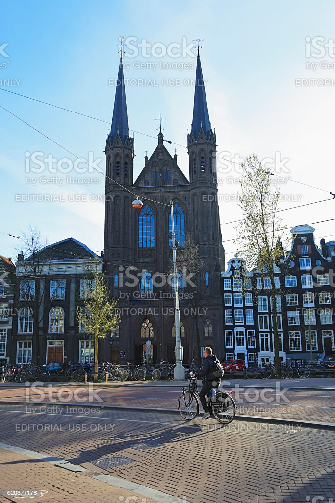 St. Francis Xavier Church, Amsterdam zbiór zdjęć royalty-free