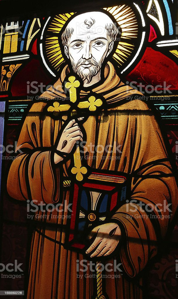 St. Franciscus of Asisi stock photo