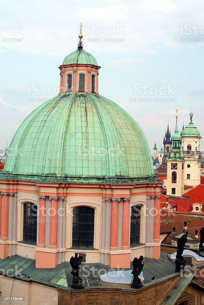 St Frantisek Church's dome. royalty-free stock photo