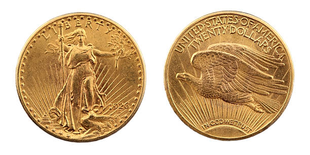 St. Gaudens Double Eagle Gold Coin stock photo