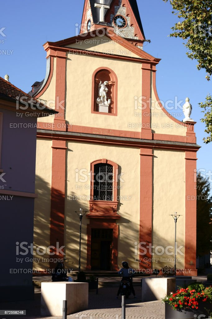 St. Georg Church Nieder-Olm stock photo