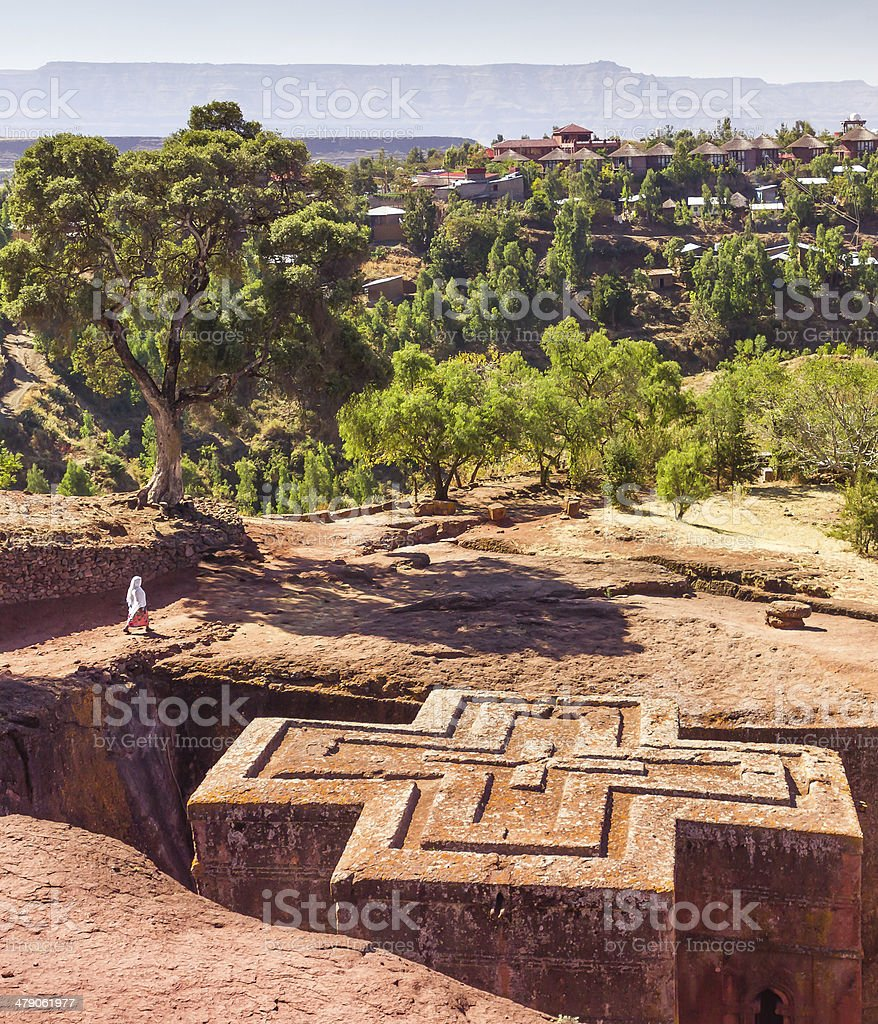 St George Church at Lalibela in Ethiopia stock photo