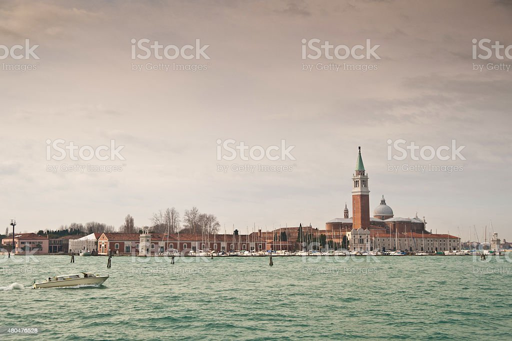 San Giorgio Maggiore church stock photo