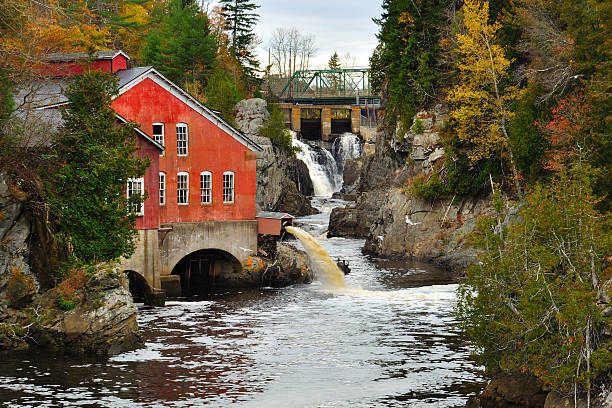 St. George Mill, New Brunswick stock photo