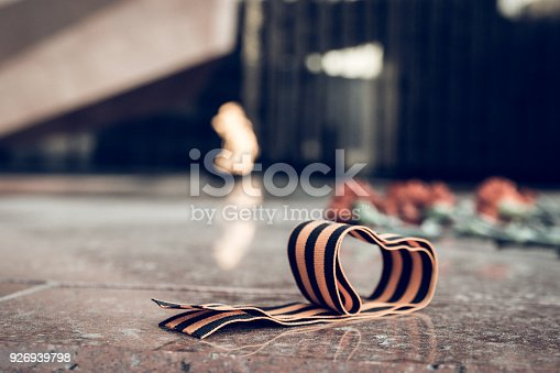 146869841 istock photo St. George ribbon in honor of Victory Day 1945 926939798