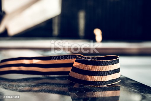 146869841 istock photo St. George ribbon in honor of Victory Day 1945 926939934