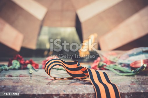 146869841 istock photo St. George ribbon in honor of Victory Day 1945 926939980
