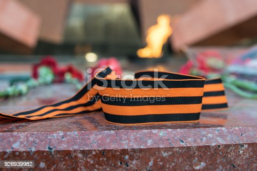 146869841 istock photo St. George ribbon in honor of Victory Day 1945 926939982