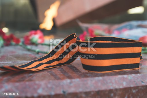 146869841 istock photo St. George ribbon in honor of Victory Day 1945 926940014