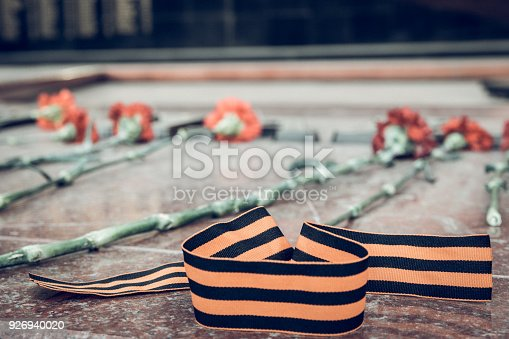 146869841 istock photo St. George ribbon in honor of Victory Day 1945 926940020