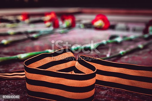146869841 istock photo St. George ribbon in honor of Victory Day 1945 926940040