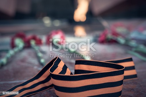 146869841 istock photo St. George ribbon in honor of Victory Day 1945 926940046