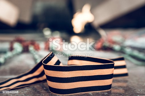 146869841 istock photo St. George ribbon in honor of Victory Day 1945 926940048