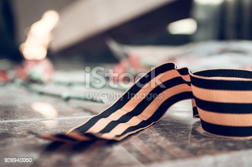 146869841 istock photo St. George ribbon in honor of Victory Day 1945 926940050