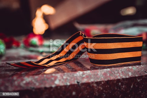 146869841 istock photo St. George ribbon in honor of Victory Day 1945 926940060