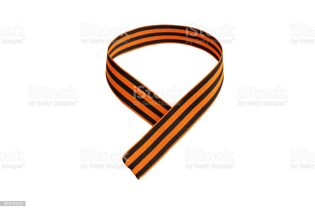 St. George ribbon in the form of the number 9 免版稅 stock photo
