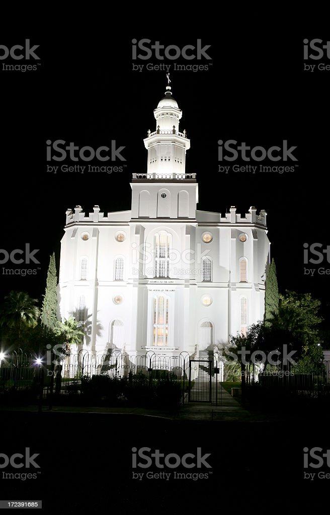 St George Utah. Latter Day Saints Mormon Temple. royalty-free stock photo