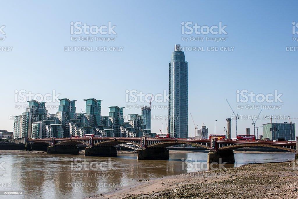St George Wharf in London stock photo