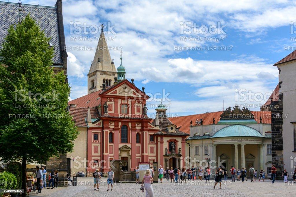 St. George's Basilica at Prague Castle, Prague, Czech Republic stock photo