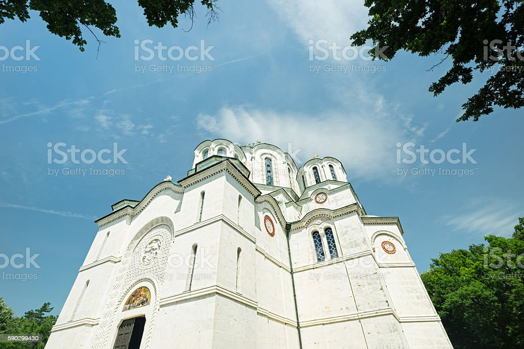 St George's Church at Oplenac, Serbia royaltyfri bildbanksbilder