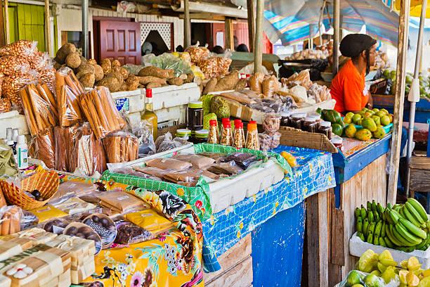 St. George's Market, Grenada W.I. stock photo