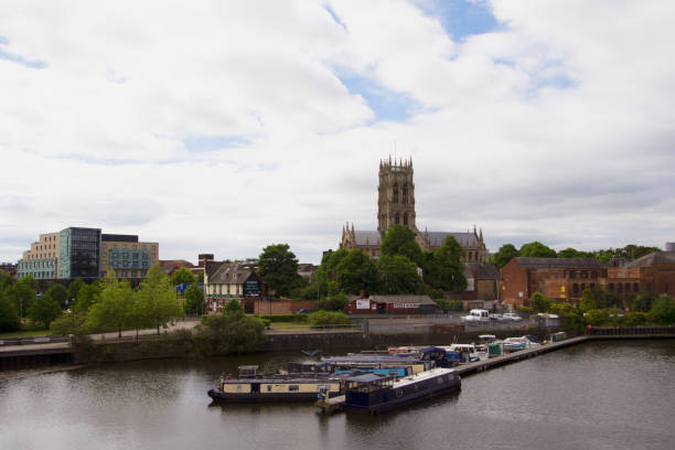 st george's minster and the hub, in may 2020. - doncaster foto e immagini stock
