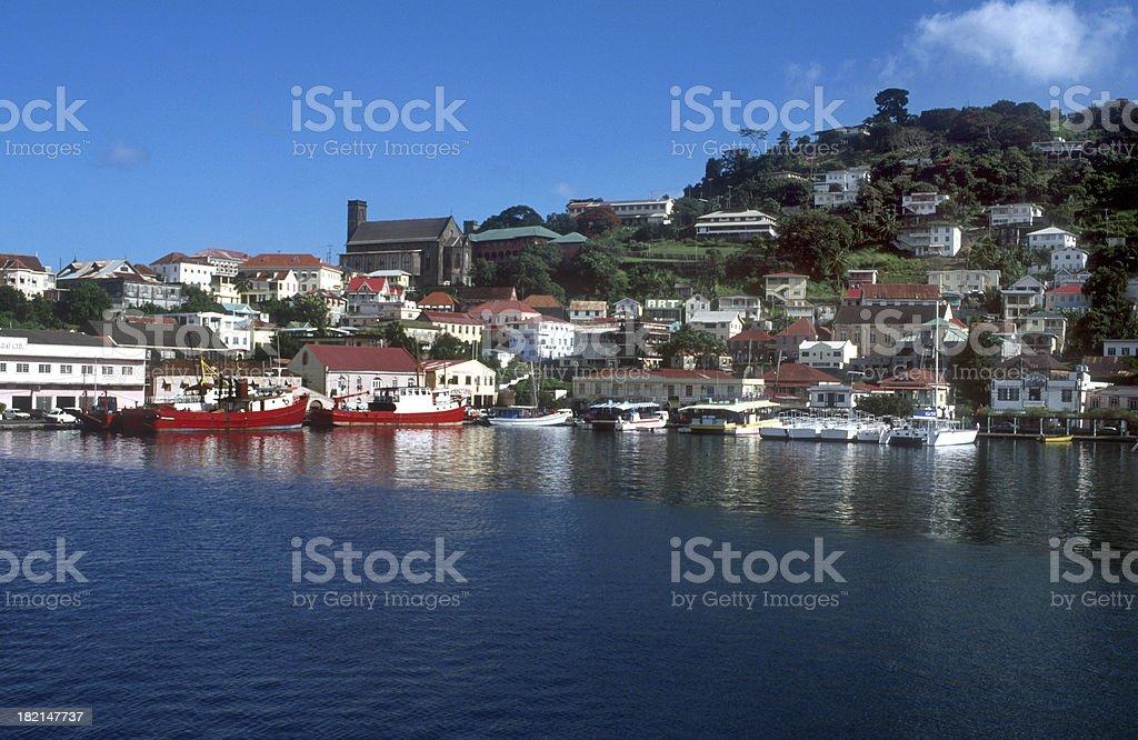St. George's Port Grenada royalty-free stock photo