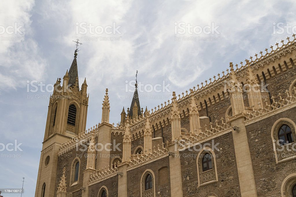 St Geromimo the Royal church, Madrid, Spain stock photo