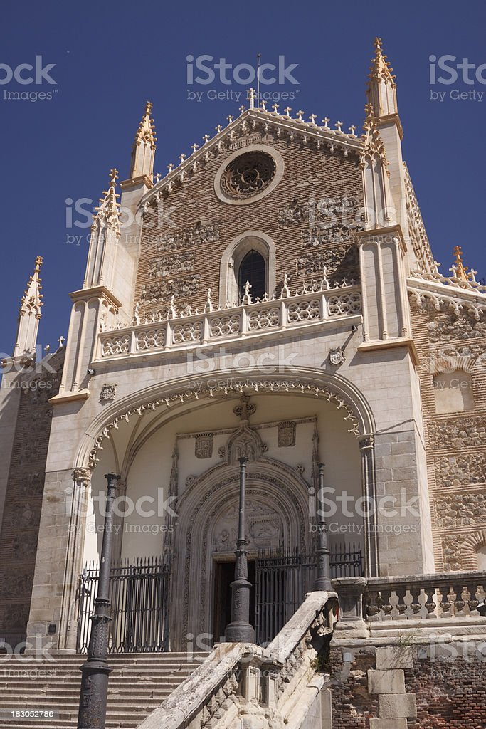St Geromimo the Royal Church Madrid, Spain stock photo