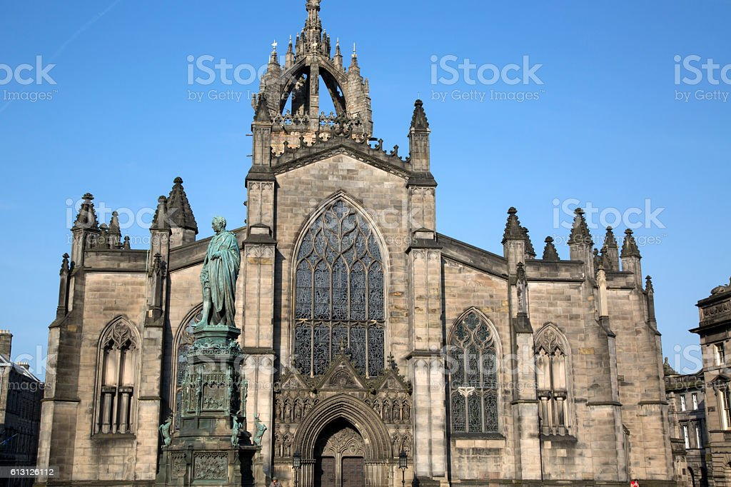 St Giles Cathedral Church; Royal Mile; Edinburgh stock photo