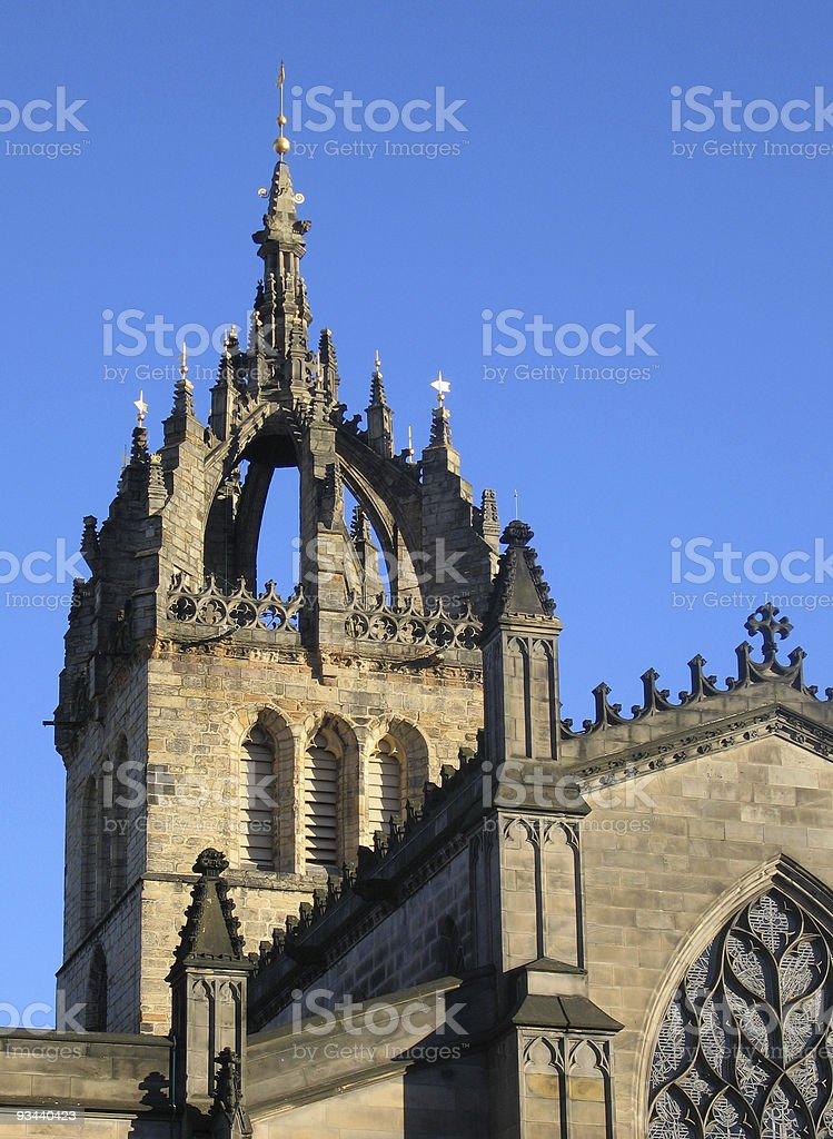 St. Giles'Cathedral auf der Royal Mile, Edinburgh Lizenzfreies stock-foto