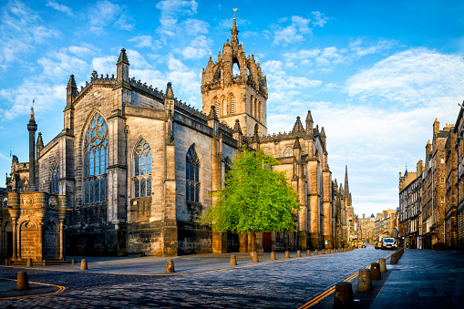 St Giles Cathedral on The Royal Mile, Edinburgh,Scotland, UK