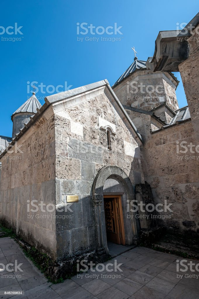 St. Grigor Church of the eleventh century in the monastery of Haghartsin. stock photo