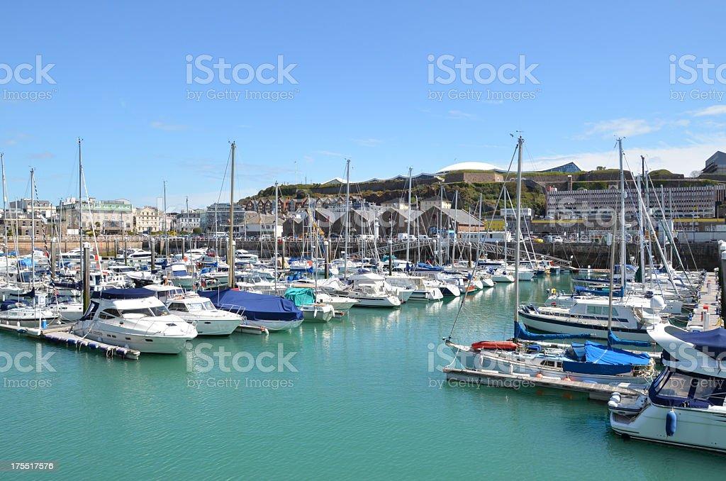 St Helier Marina stock photo