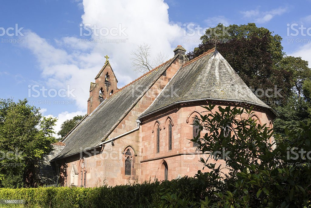St Hilary Church Erbistock by River Dee royalty-free stock photo