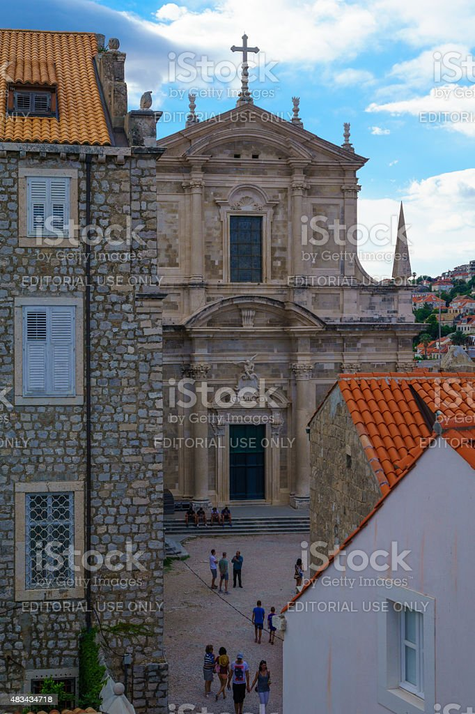 St. Ignatius Church, Dubrovnik stock photo