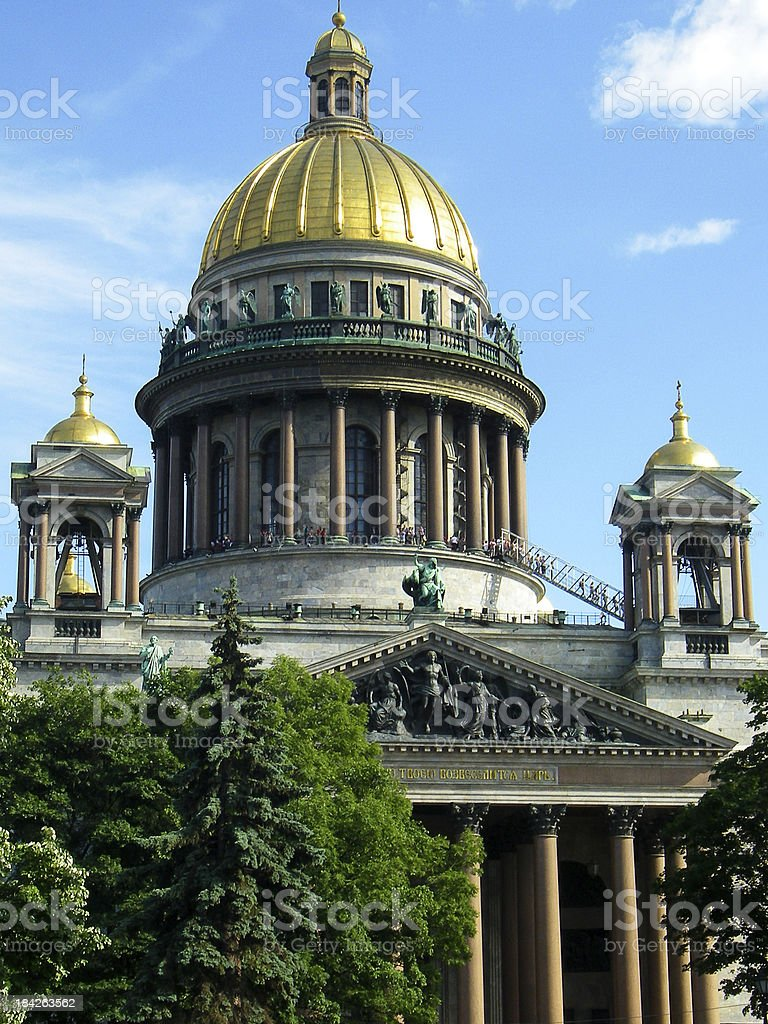 St. Isaac's Cathedral in Saint Petersburg Russia royalty-free stock photo