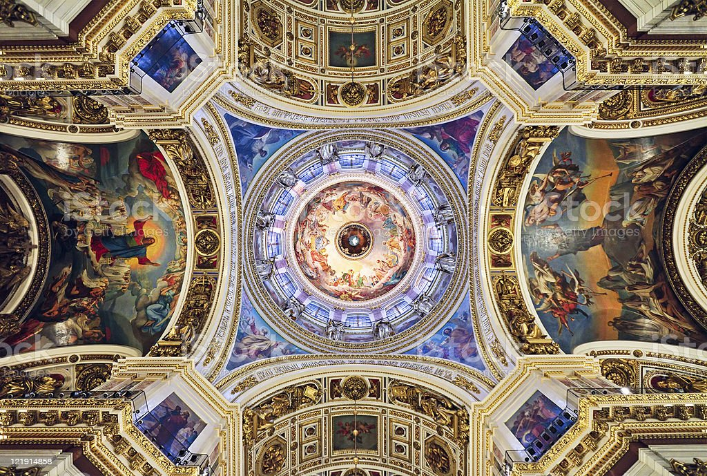 St. Isaac's Cathedral, St. Petersburg, Russia stock photo