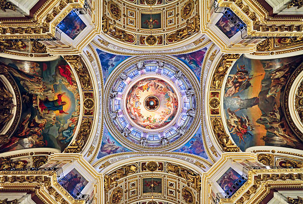 st. isaac's cathedral, st. petersburg, russia - cupola stock pictures, royalty-free photos & images