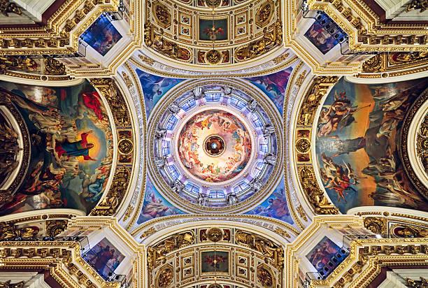 isaakskathedrale, st. petersburg, russland - russisch orthodoxe kirche stock-fotos und bilder