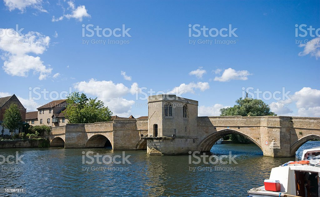 St Ives bridge stock photo
