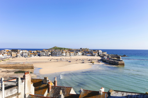 St. Ives harbour in Cornwall, UK