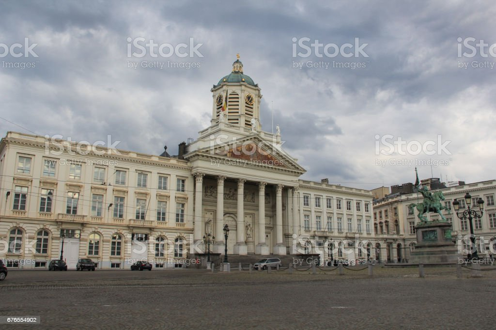 St. Jacob church at Royal square, Brussels stock photo